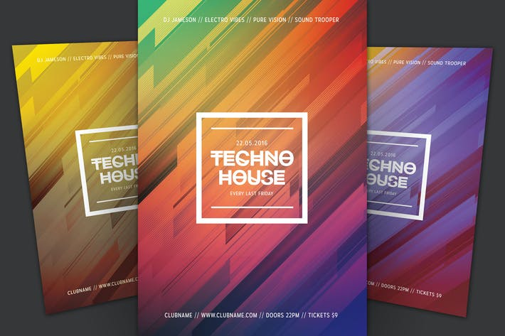 Thumbnail for Techno House Flyer
