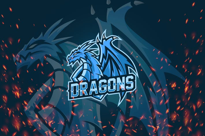 Thumbnail for Dragon - Esport & Mascot Logo KF