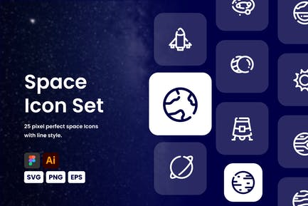 Raumlinien-Symbol-Set