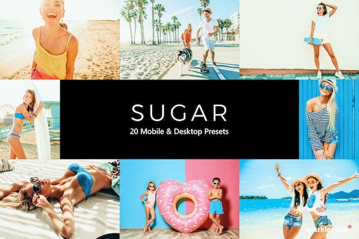 Thumbnail for 20 Sugar Lightroom Presets & LUTs