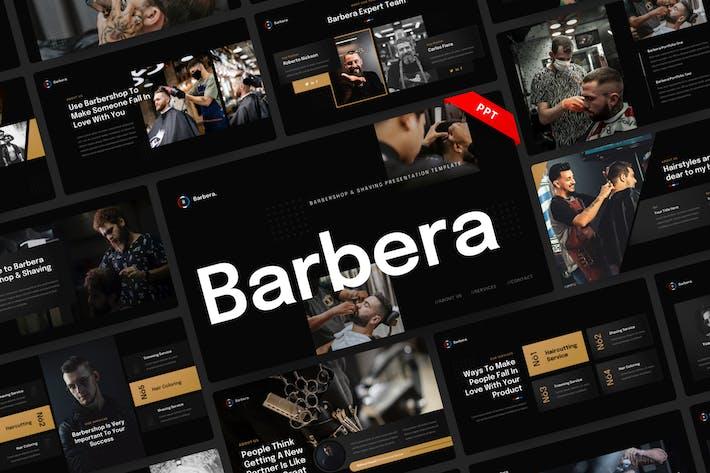 Barbera - Barbershop & Shaving PowerPoint Template