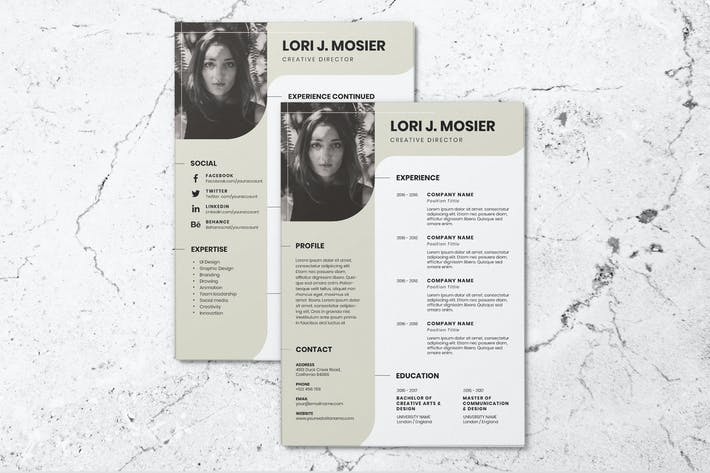 Thumbnail for Clean Minimalist CV Resume AI and PSD Flyer Vol.3
