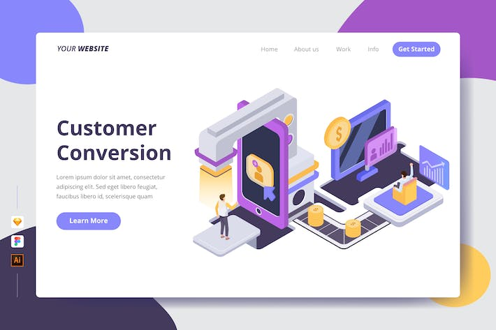 Thumbnail for Customer Conversion - Landing Page