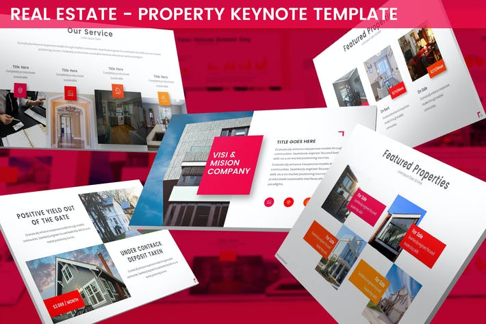 Thumbnail for Real Estate - Property Keynote Template
