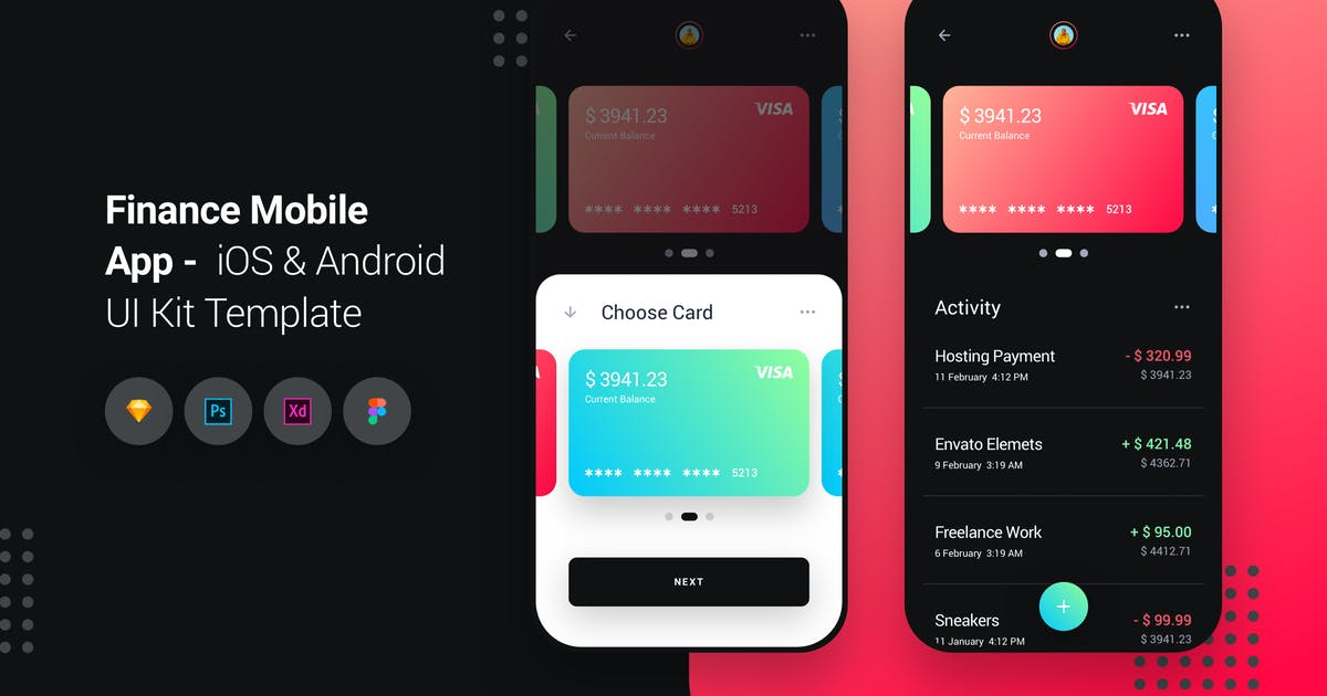 Download Finance Mobile App iOS & Android UI Kit Template by panoplystore