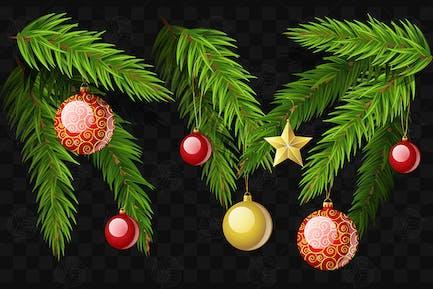 Ramas de abeto de Navidad - Kit de Elementos realistas