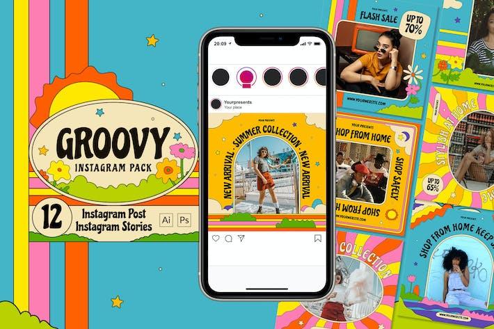 Thumbnail for Groovy Instagram Pack