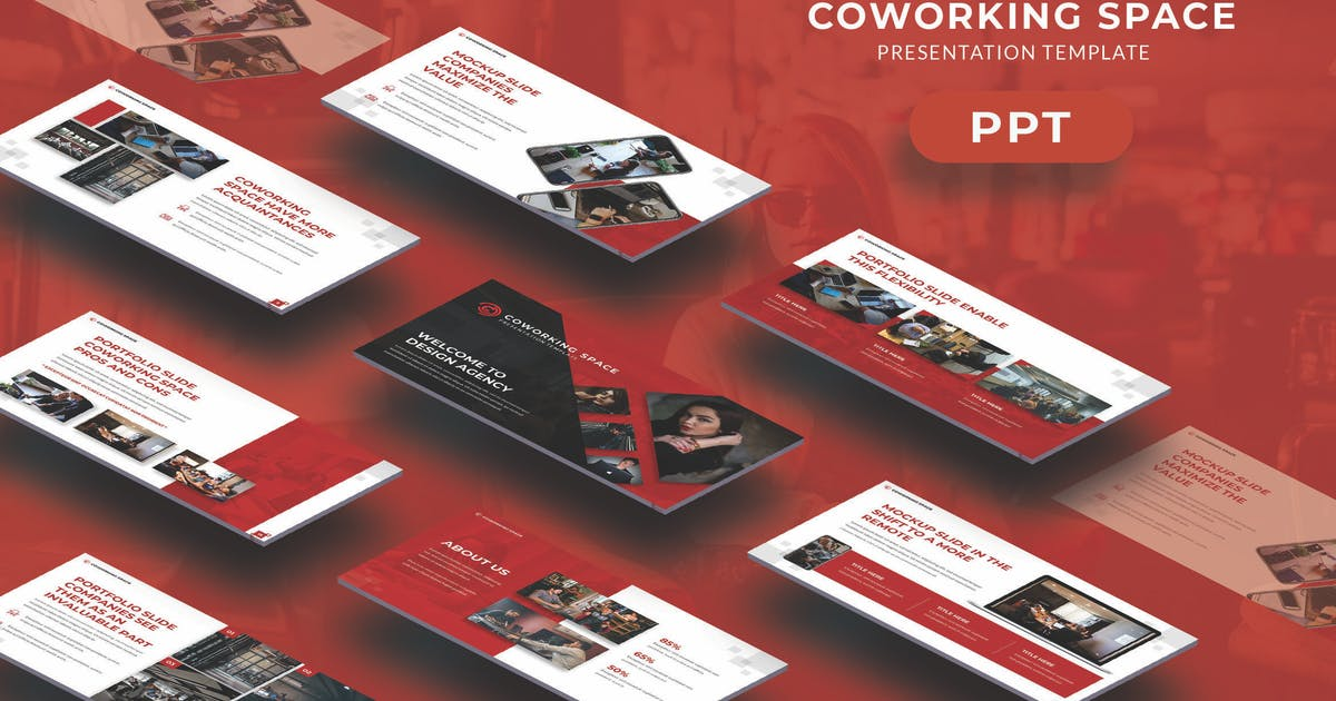 Download Coworking Space - Business Powerpoint Template by jegtheme
