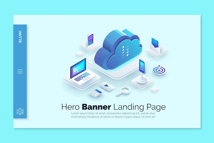 Bluwi - Hero Banner Template