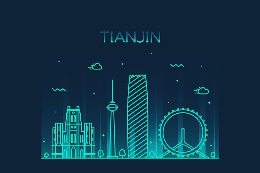 Tianjin skyline, China