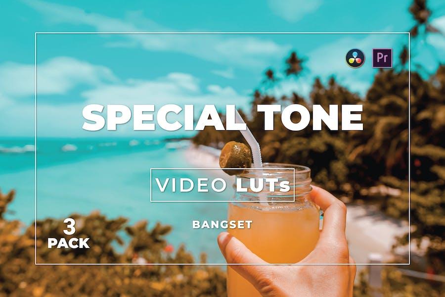 Набор специальных тональных бангсетов 3 видео LUTs