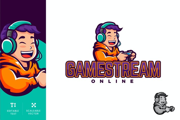 Cover Image For Gamestream Online Logo Illustration Vektor