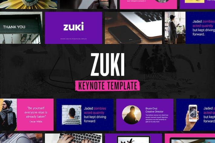Cover Image For Zzuki — Plantilla de Presentación Keynote