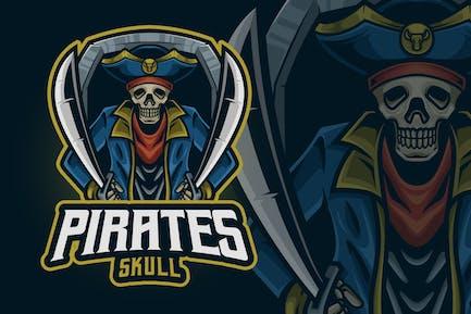 Pirates Skull Mascot Logo