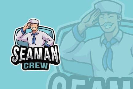 Seaman Crew Logo Template