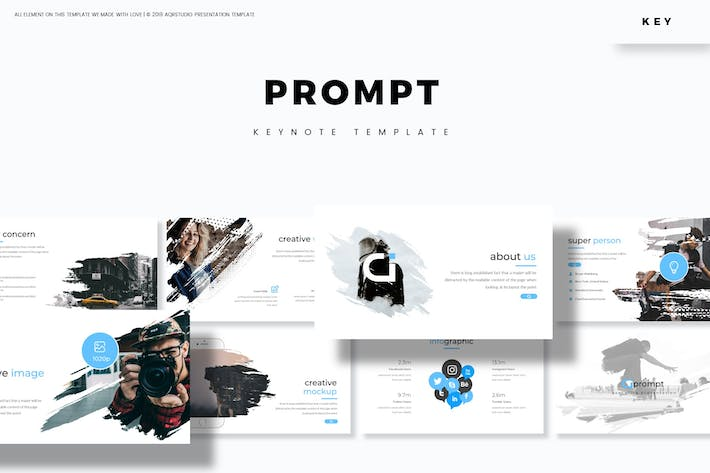 Cover Image For Prompt - Keynote Template
