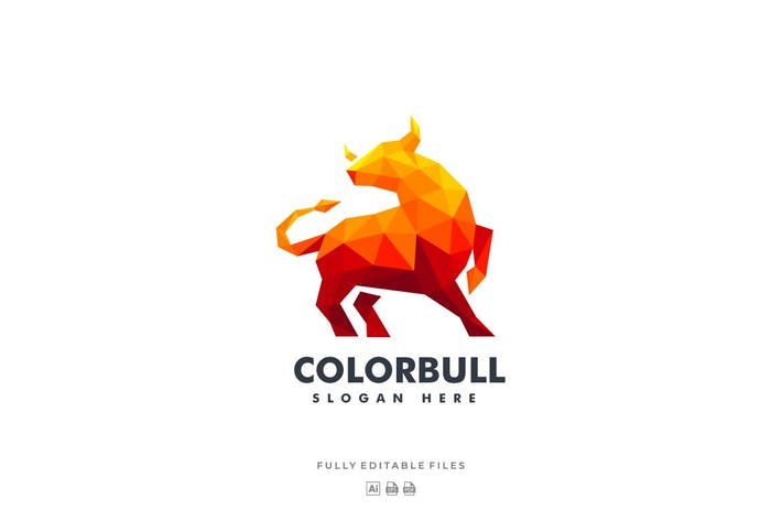 Thumbnail for Bull Poly Colorful Logo