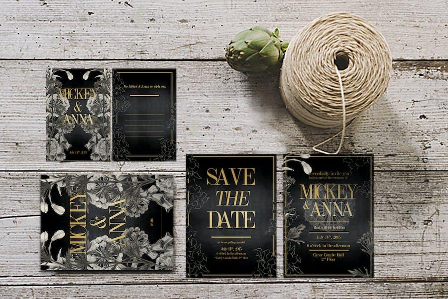 Classic Foliage Wedding Invitation