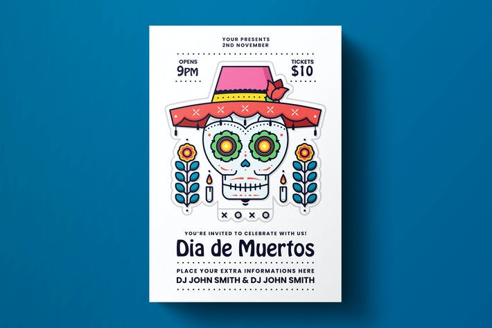 Thumbnail for Dia De Los Muertos Flyer Template