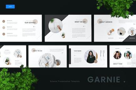 Garnie - Plantilla de Keynote de ciencia