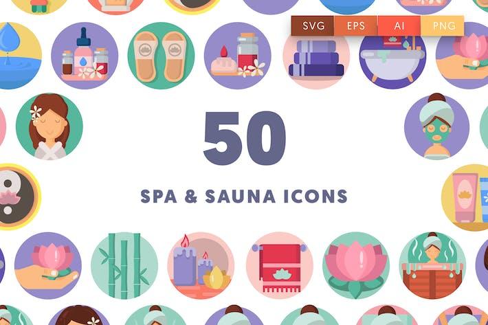 Thumbnail for 50 Spa and Sauna Icons