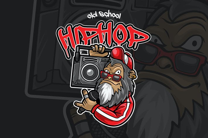 Thumbnail for Hiphop Old School Stil Vektor Illustration