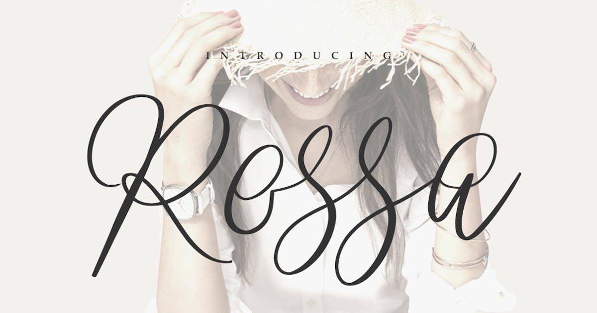 Download Rossa Script - Logo Font by maulanacreative