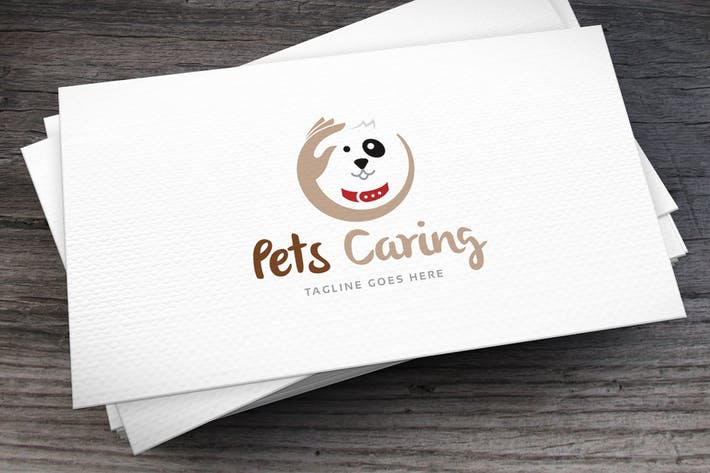Cover Image For Pets Caring Logo Template
