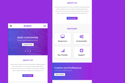 Rabes - A Clean Mobile Template