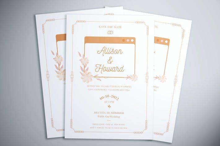 Thumbnail for Virtual Wedding Flyer