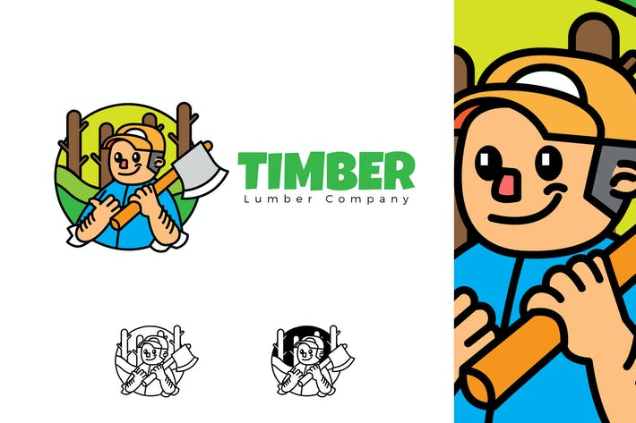 Thumbnail for TIMBER - Mascot & Esport Logo