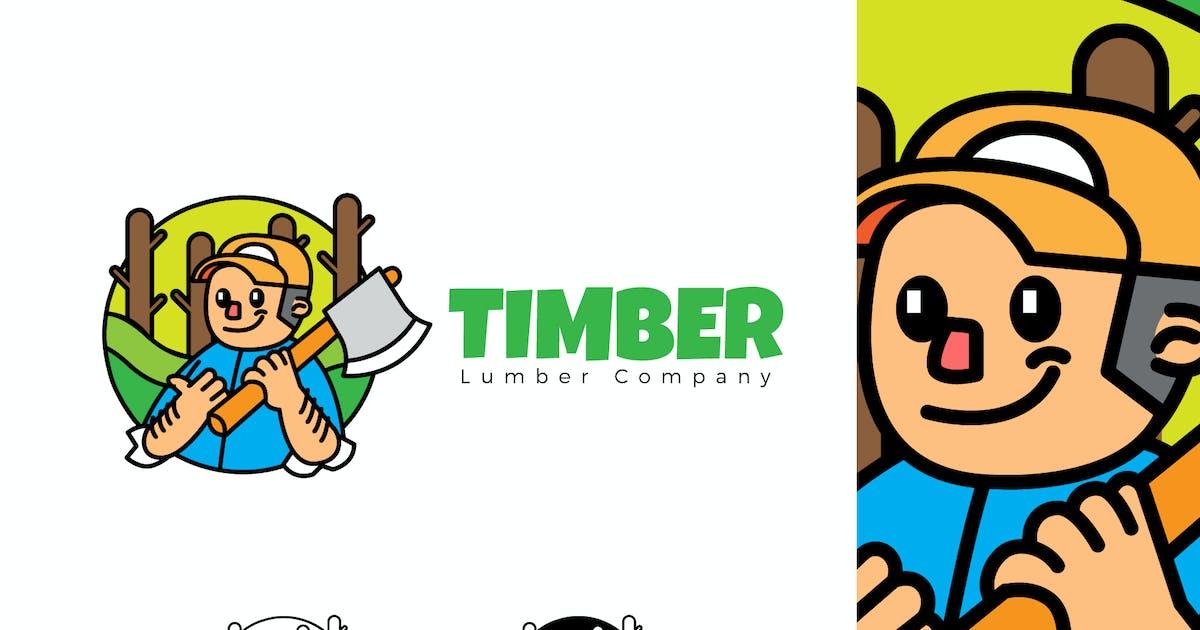 Download TIMBER - Mascot & Esport Logo by aqrstudio