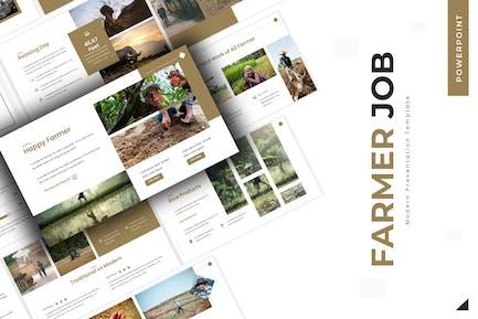 Farmer Job - Powerpoint-Vorlage