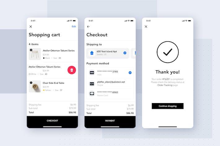 Thumbnail for Furniture Shop Mobile App UI Concept