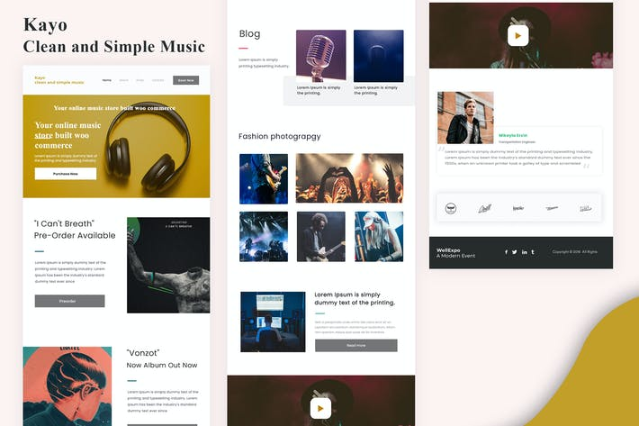 Thumbnail for Kayo - Clean and Simple Music Email Newsletter