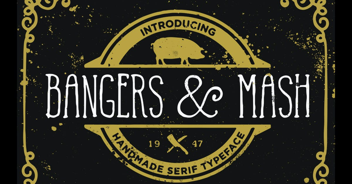 Download Bangers and Mash Font by simonok