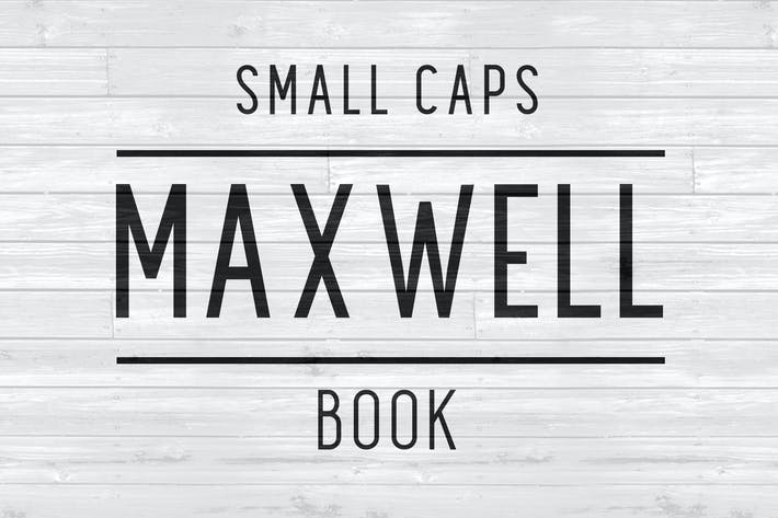 Thumbnail for Maxwell Sans Small Caps Book