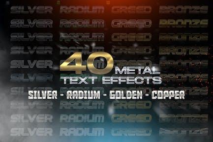 40 Efectos de texto metálico - Estilos de capa