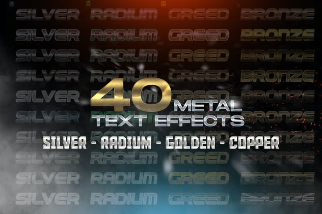40 Metal Text Effects - Layer Styles