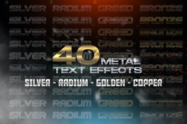 Thumbnail for 40 Metal Text Effects - Layer Styles