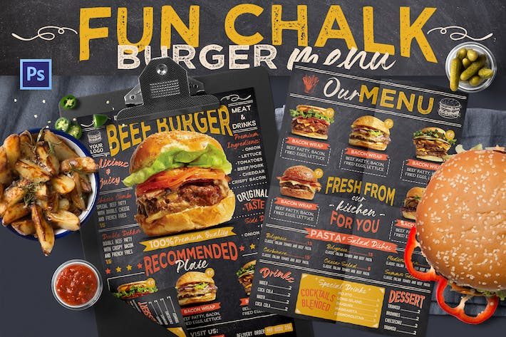 Thumbnail for Menu Fun Burger à la craie
