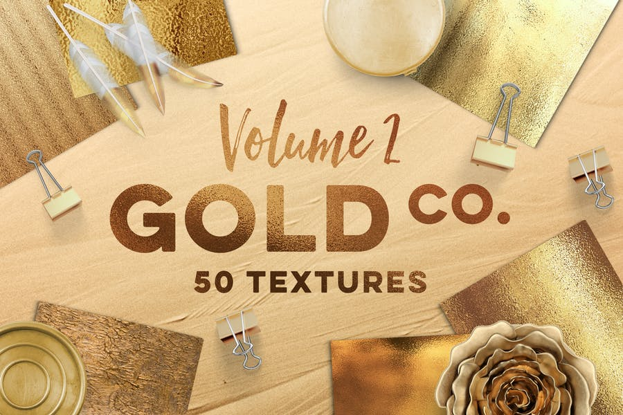 50 goldene Texturen