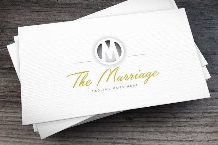 Cover Image For Marriage Logo Template