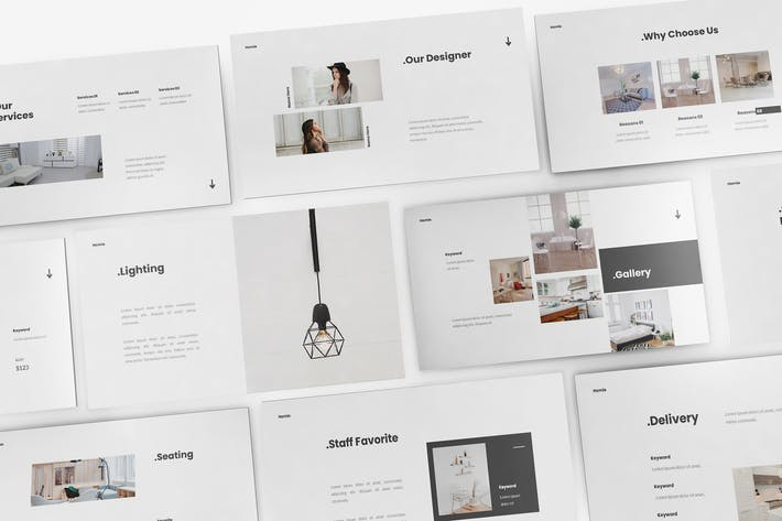 Thumbnail for Home Decoration Keynote Template