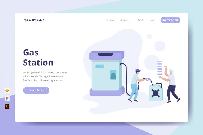 Thumbnail for Gas Station - Landing Page