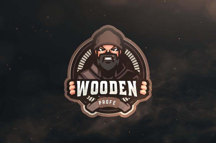 Thumbnail for Wooden Profe Sport and Esports Logo