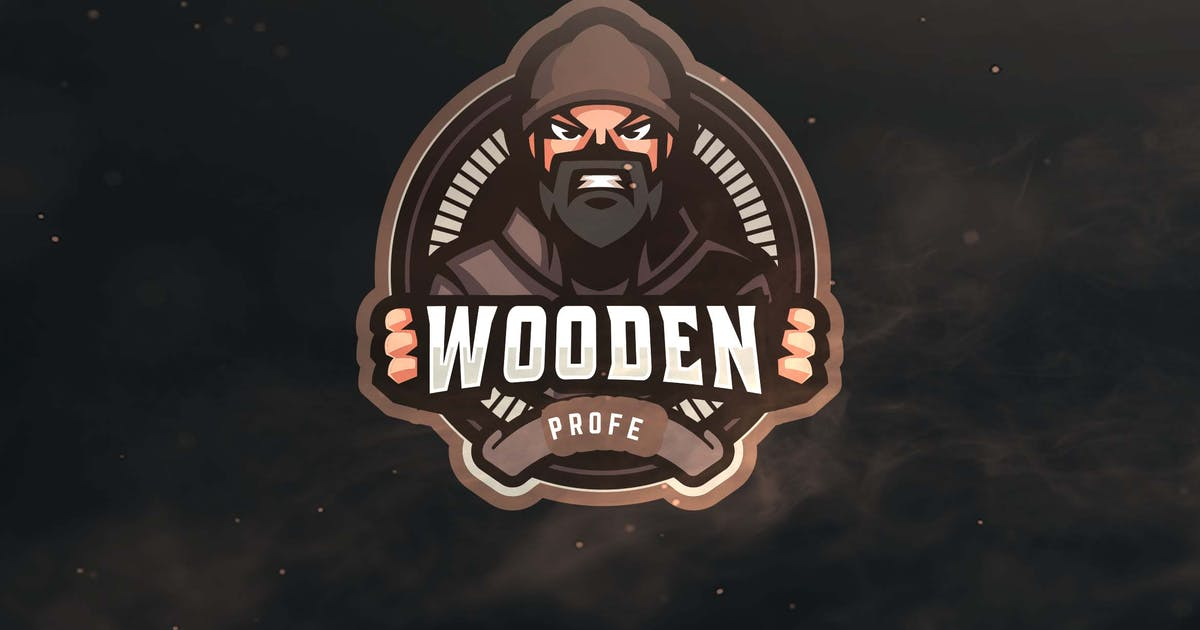 Download Wooden Profe Sport and Esports Logo by ovozdigital