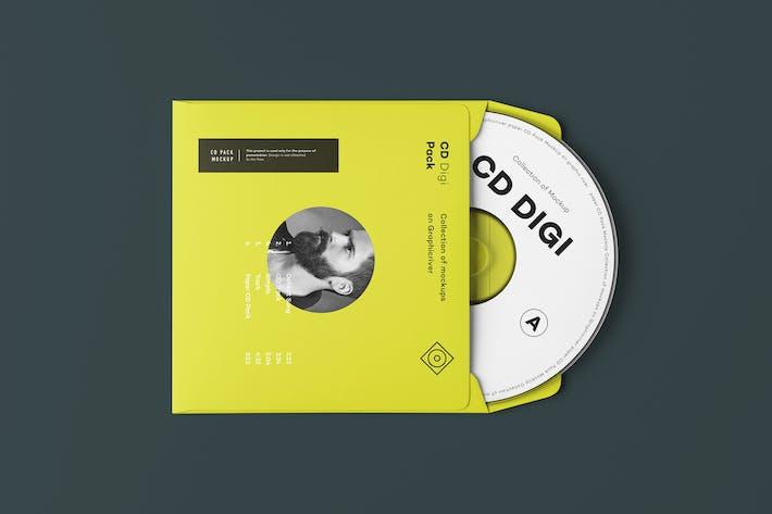 Cover Image For CD Envelope Mock-up