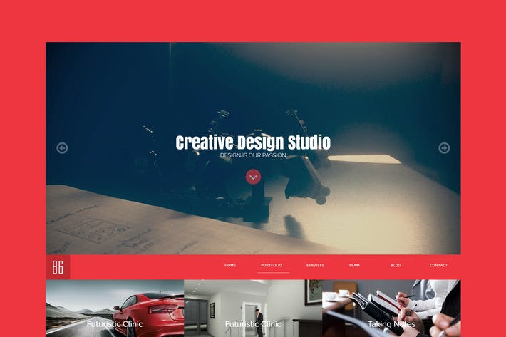 Thumbnail for 86Studio - Multi-Skin One Page HTML Template