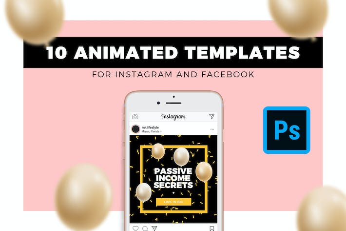 Thumbnail for Animated Social Media Templates
